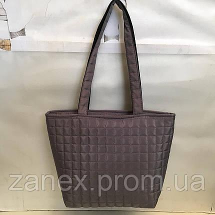 Женская сумка стеганая (серая), фото 2
