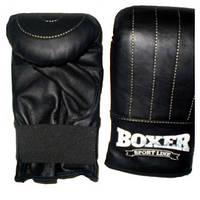 Снарядные перчатки Boxer 5002 Ч L черные (код 236-250331)