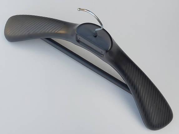 Плечики вешалки тремпеля  СП-45/70 черного цвета, длина 45 см, фото 2