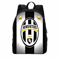 Детский школьный рюкзак Juventus classic с белым лого, фото 1