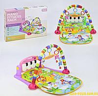 Коврик пианино для младенца HE 0603 - HE 0604 синий и розовый