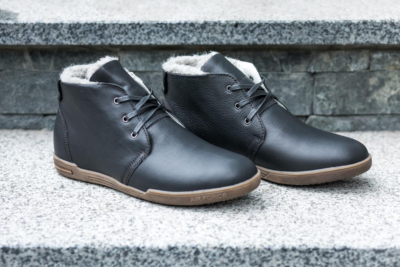 Стильне, шкіряне, зимове взуття!