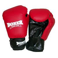 Боксерские перчатки Boxer 4012 К 8 oz красные (код 236-250397)
