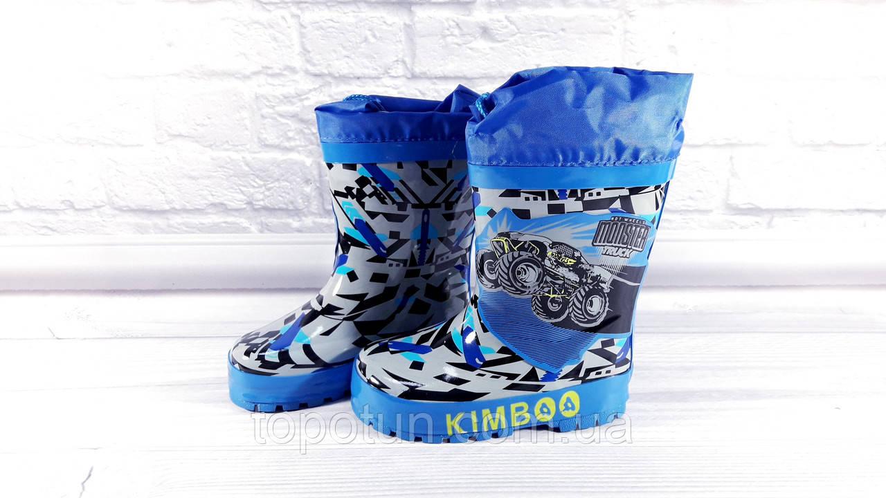 """Детские резиновые сапоги для мальчика """"Kimbo-o"""" Размер: 26"""