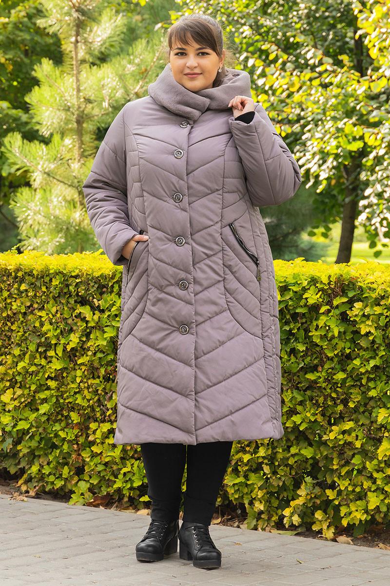 Пальто зимнее большого размера  SER-P55 (5 расцветок)