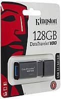 USB3.0 Flash Drive 128GB Kingston DataTraveler 100 G3 Black (DT100G3/128GB)