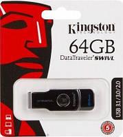 USB3.0 Flash Drive 16 Gb Kingston DT SWIVL (Metal/color) (DTSWIVL/16GB)