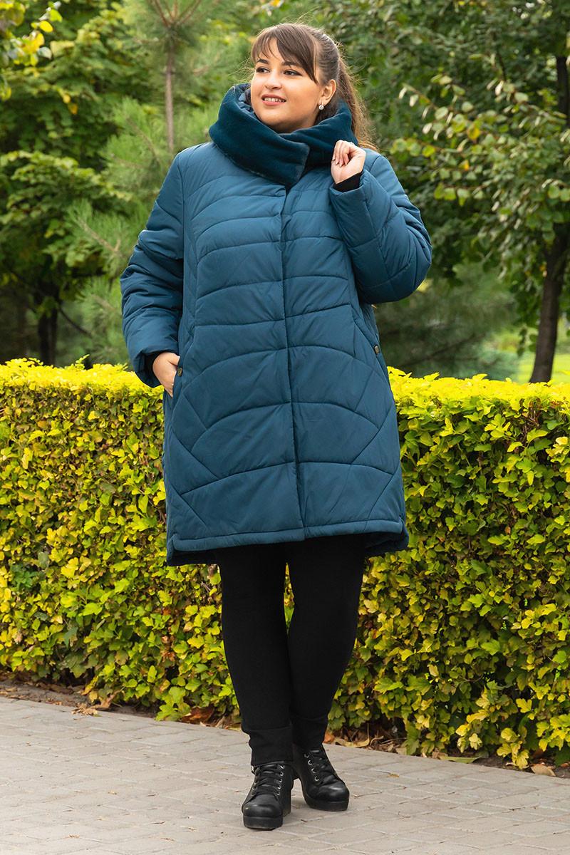 Пальто зимнее большого размера  SER-P55 (2 расцветки)