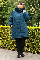 Пальто зимнее большого размера  SER-P55 (2 расцветки), фото 1