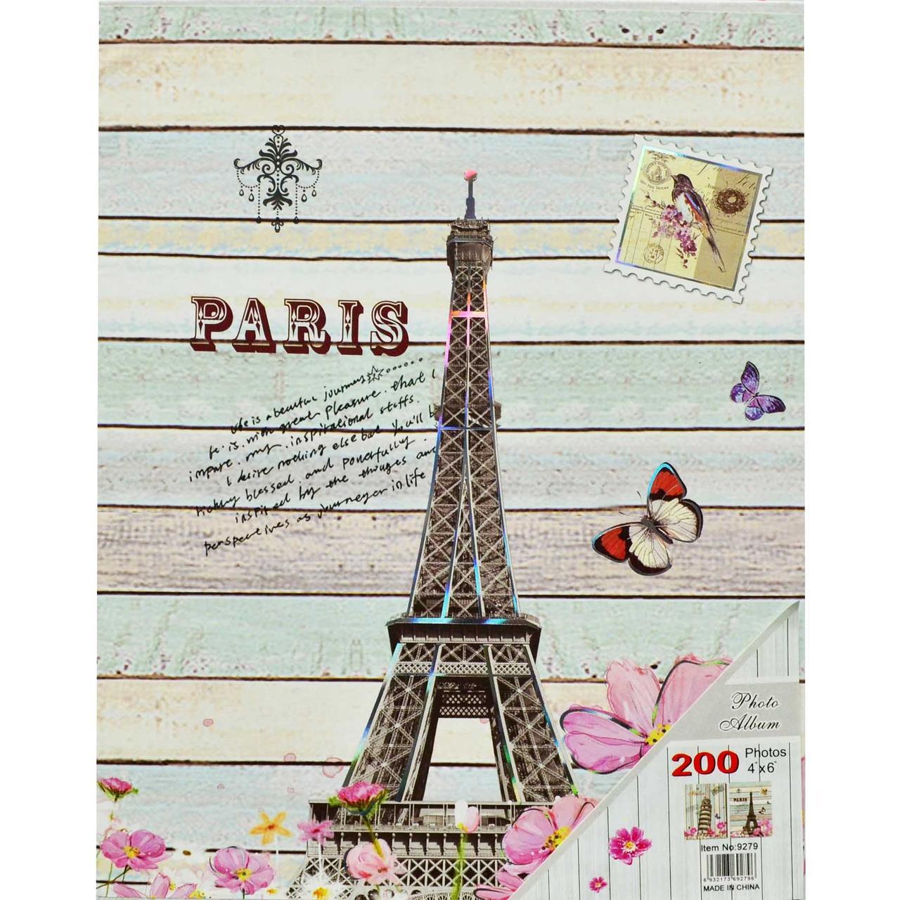 """Фотоальбом в подарунковій коробці """"PARISE"""" місце для запису 200/10х15см."""