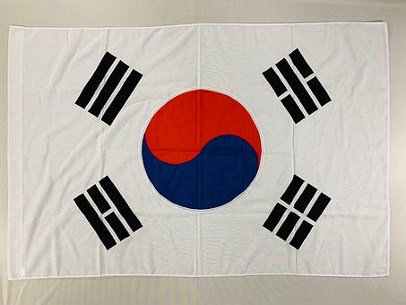 Флаг Южной Кореи (Аппликация) - (1м*1.5м), фото 2