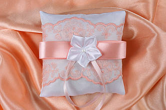 Подушечка для колец Нежность персик