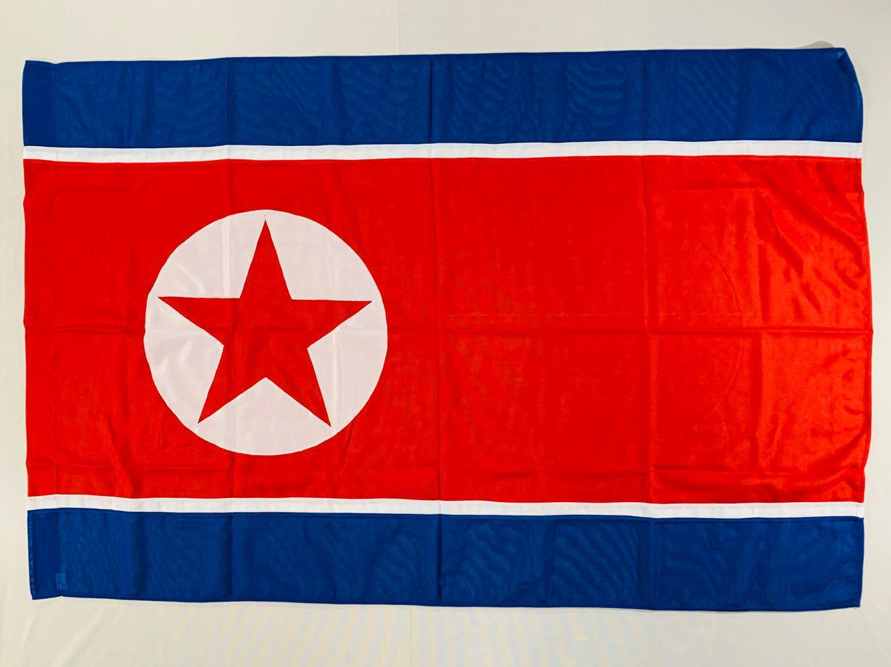 Флаг Северной Кореи (Аппликация) - (1м*1.5м)