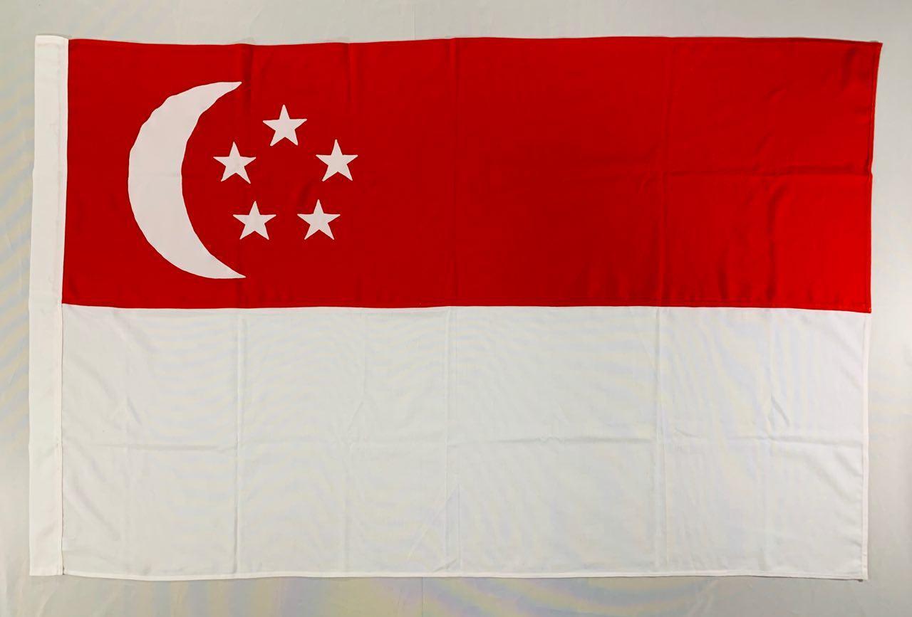 Флаг Сингапура (Аппликация) - (1м*1.5м)