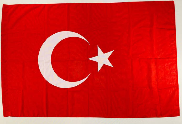 Флаг Турції (Аплікація) - 1м*1.5м, фото 2