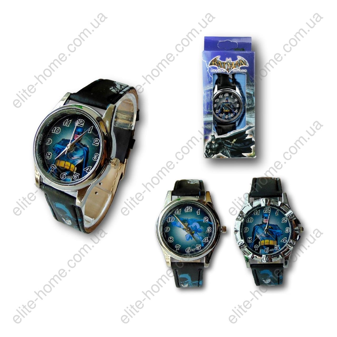"""Детские наручные часы """"Бэтмен (Batman)"""" в подарочной упаковке (черный ремешок, 2 вида)"""