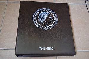 Альбом монет Нидерландов 1948 - 1980г. холдерах (9 листов, 149 шт.) 4