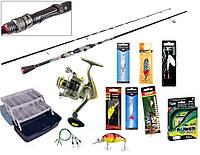 Рибальський набір 11в1 Спінінг Rise spin Тест 2-10г, Котушка Chang Yong CX-2000 6bb, фото 1