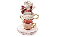 Декоративная фигурка Мышка в чашке, 17см