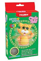 Масса для лепки Paulinda Super Dough Circle Baby Кот заводной механизм, оранжевый PL-081177-4