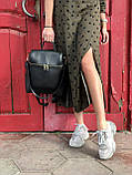 Сумка-рюкзак жіноча 46004 молодіжна трансформер чорна на плече, фото 2