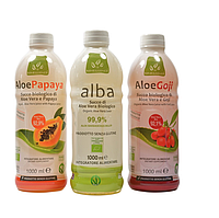 Набор соков  Алоэ Вера  органических: Чистый сок АлоэВера+Алоэ с годжи+Алоэ с папайя Benessence,3 шт.х1л.
