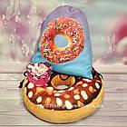 Сумка для домашних тренировок Пончик. Сумка-мешок с принтом для прогулок, фото 6