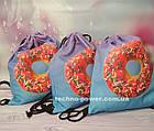 Сумка для домашних тренировок Пончик. Сумка-мешок с принтом для прогулок, фото 8