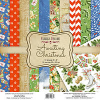Набір двостороннього паперу - Awaiting Christmas - Fabrika Decoru - 20x20