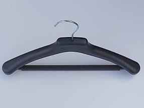 Плечики вешалки тремпеля Д-38/40П с поролоновой перекладиной черного цвета, длина 38 см, фото 2