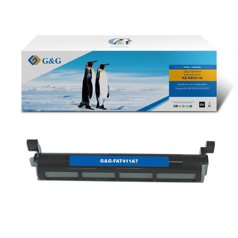 Картридж G&G (G&G-FAT411A7) Panasonic KX-MB1900/2000/2020/2030 (аналог KX-FAT411A7)