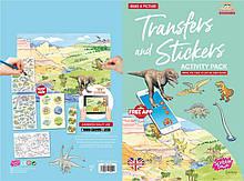 Набор переводных наклеек Scribble Down с онлайн приложением Динозавры SD/22