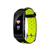 Фитнес-браслет Canyon CNS-SB41 Black/Green, 0.96 (160х80) LCD сенсорный / Bluetooth 4.0 / 48 х 22 х 12 мм, 25 г / IP67 / 90 мАч / черно-зеленый