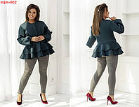 Ра703 Стильное женское пальто батал