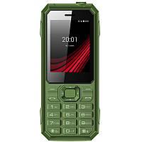 Мобильный телефон Ergo F248 Defender Dual Sim Green, 2.4 (320х240) TN / клавиатурный моноблок / MediaTek MT6261D / ОЗУ 32 МБ / 32 МБ встроенной +