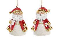 Елочная игрушка Дед мороз 6 см, новогодняя игрушка дед мороз, статуэтка Святой Николай