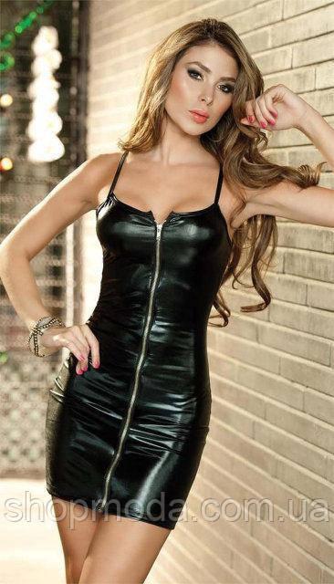 Платье латексное. Эротическое белье. Латексное женское белье.