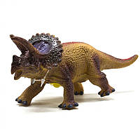 Динозавр резиновый Трицератопс, маленький  со звуком