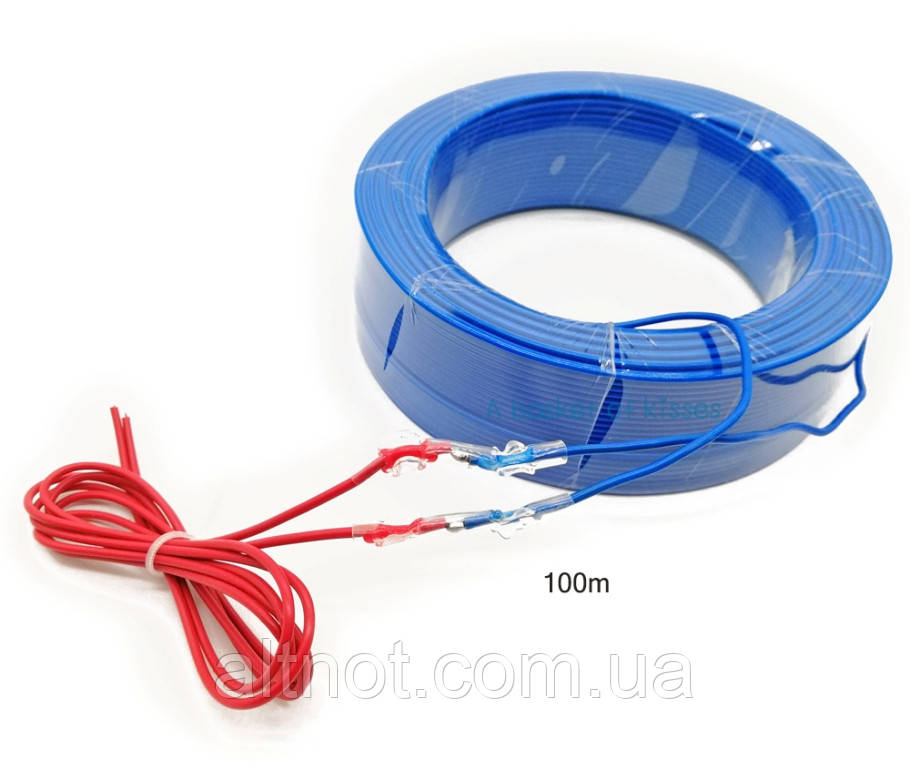 Нагревательный (греющий) кабель НС-100 100м., 1000Вт. тонкий, инфракрасный.