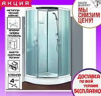 Душевая кабина полукруглая 100х100 см с поддоном Santeh 8510 L двери раздвижные