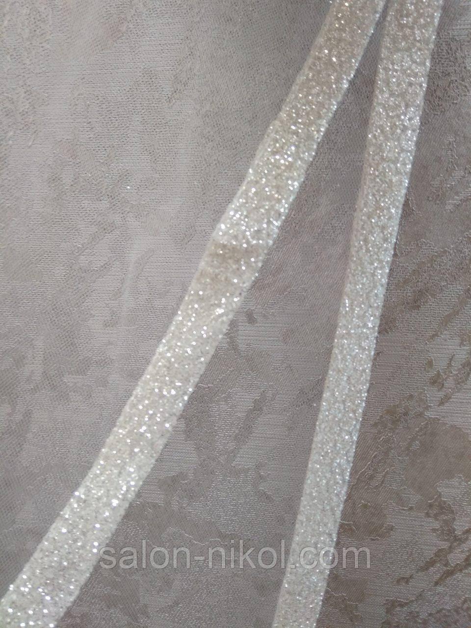 Фата с тесьмой № 932 (1,5*2 м) удлиненная айвори