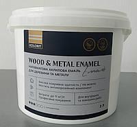 Акриловая эмаль для металла и дерева, Kolorit wood and metal enamel 2 л