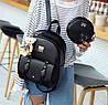 Красивый набор 3в1 рюкзак, сумка, визитница, с брелком мишкой, фото 4