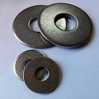 Шайба плоская увеличенная нержавеющая DIN 9021 М3 - М48 (ГОСТ 6858) А2