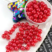 (20 грамм) Жемчуг пластик Ø6мм Цвет - Красный