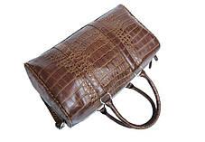 Большая оригинальная сумка под крокодил Mango, фото 2