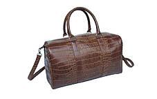 Большая оригинальная сумка под крокодил Mango, фото 3