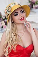 Шляпа женская летняя «Сюзет» (горчичный)