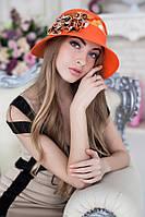 Шляпа женская летняя «Сюзет» (оранжевый)