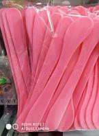 Одноразовые косметологические лопатки шпатели, длина 17см 50 шт в упаковке, фото 1